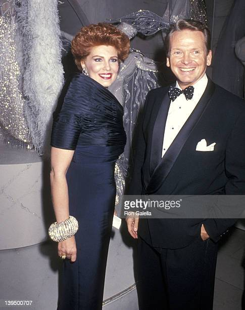 Cosmetic entrepreneur Georgette Mosbacher and fashion designer Bob Mackie attend A Decade of Literary Lions The Pride of The New York Public Library...