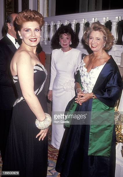 Cosmetic entrepreneur Georgette Mosbacher and fashion editor Shirley Lord Rosenthal attend the Winternight 1991 Gala to Benefit Lighthouse...