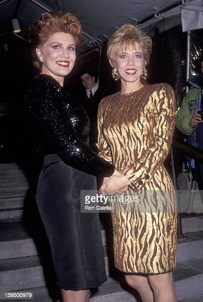 Cosmetic entrepreneur Georgette Mosbacher and her sister Lyn Paulsin attend the Vogue Magazine's 100th Anniversary Celebration on April 2, 1992 at...