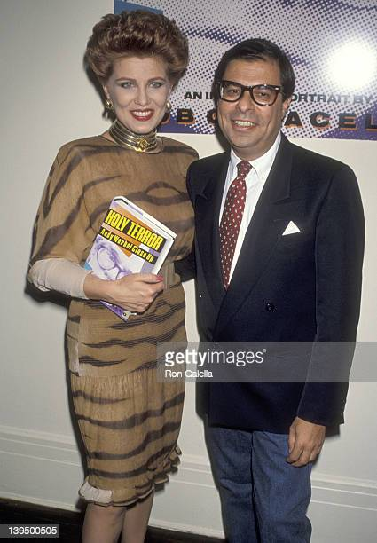 Cosmetic entrepreneur Georgette Mosbacher and writer Bob Colacello attend the Party to Celebrate Bob Colacello's Book Holy Terror Andy Warhol Close...
