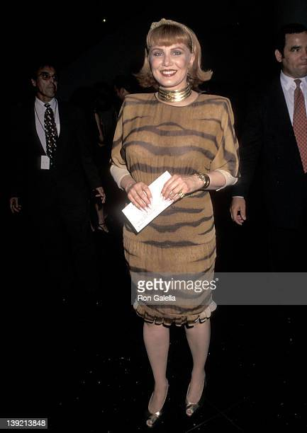 Cosmetic entrepreneur Georgette Mosbacher attends A Perfect Murder New York City Premiere on June 1 1998 at Sony Theatres Lincoln Square in New York...