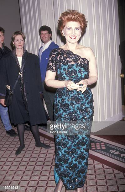 Cosmetic entrepreneur Georgette Mosbacher attends the Boys' Towns of Italy's 47th Annual Ball of the Year Gala on April 9 1992 at The WaldorfAstoria...