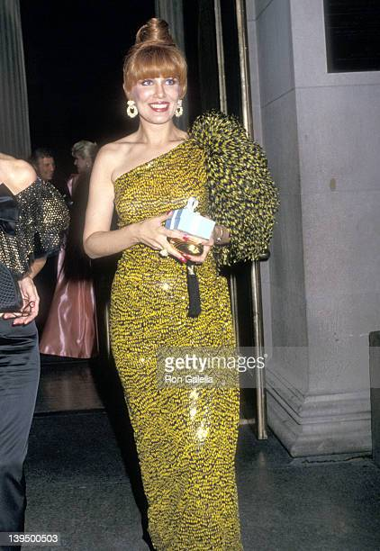 Cosmetic entrepreneur Georgette Mosbacher attends The Freedom Award Dinner Salute to The Honorable John C Whitehead on September 14 1987 at The...