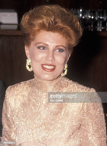 Cosmetic entrepreneur Georgette Mosbacher attends the New York City Ballet's 1990 Spring Gala on May 1, 1990 at the New York State Theatre, Lincoln...