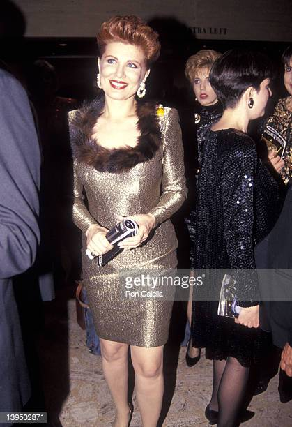 Cosmetic entrepreneur Georgette Mosbacher attends the New York City Ballet's 95th Season Opening Night Gala on November 19 1991 at New York State...