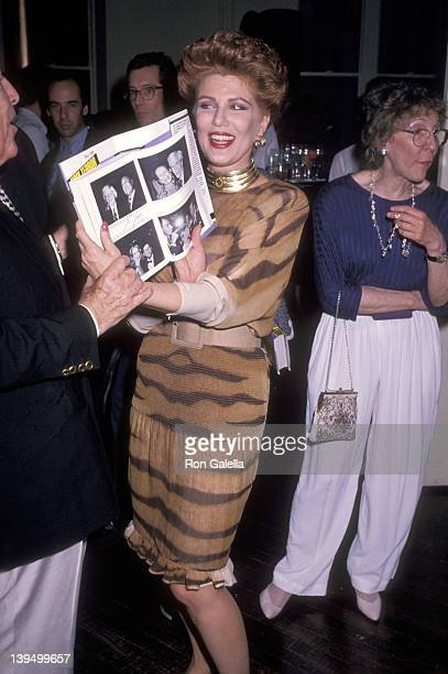 Cosmetic entrepreneur Georgette Mosbacher attends the Party to Celebrate Bob Colacello's Book Holy Terror Andy Warhol Close Up on August 8 1990 at...