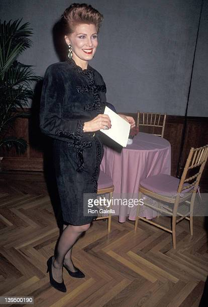Cosmetic entrepreneur Georgette Mosbacher attends the Pratt Institute's Excellence in Design Award Salute to Marc Rosen on November 26, 1990 at...
