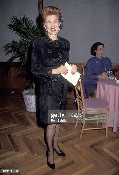 Cosmetic entrepreneur Georgette Mosbacher attends the Pratt Institute's Excellence in Design Award Salute to Marc Rosen on November 26 1990 at...