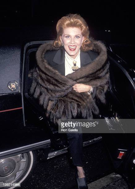Cosmetic entrepreneur Georgette Mosbacher attends the Screening of the HBO Original Movie Barbarians at the Gate on March 16 1993 at the Museum of...