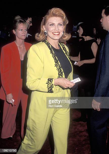 Cosmetic entrepreneur Georgette Mosbacher attends The Shadow New York City Premiere on June 26 1994 at Ziegfeld Theater in New York City