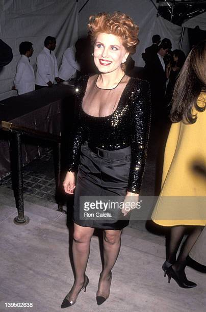 Cosmetic entrepreneur Georgette Mosbacher attends the Vogue Magazine's 100th Anniversary Celebration on April 2 1992 at New York Public Library in...
