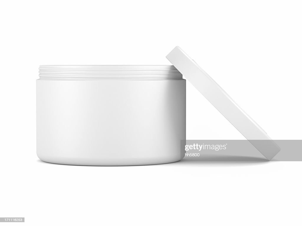 Cosmetic face cream container : Stock Photo