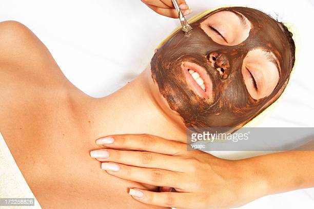 cosmetic facial mask - mottled skin stock pictures, royalty-free photos & images