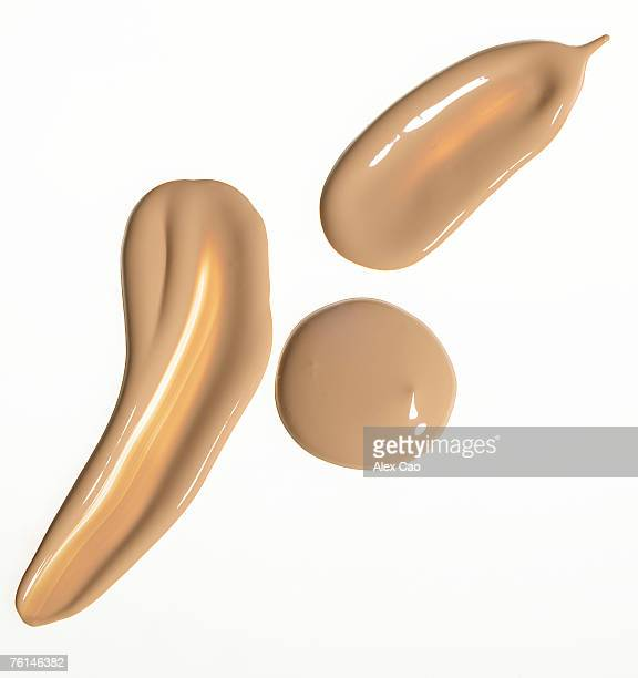 Cosmetic foundation liquid against white background