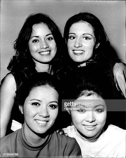 Cosmetic Story Girls from the Queen of the South Pacific Quest l to r Abigail Banglos princess of Hawaii Janine Maroulis New Zealand Bottom row l to...