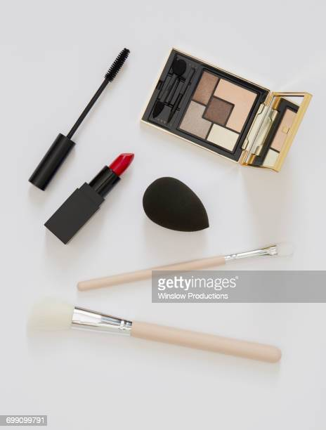 Cosmetics against white background