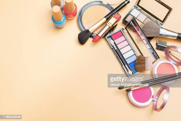 cosmetics for face makeup - make up stock pictures, royalty-free photos & images