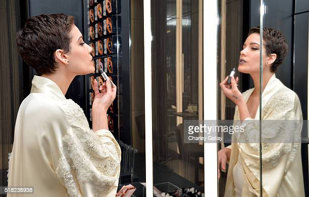 Cosmetics Future Forward appearance with singer Halsey on March 30 2016 in Hollywood California