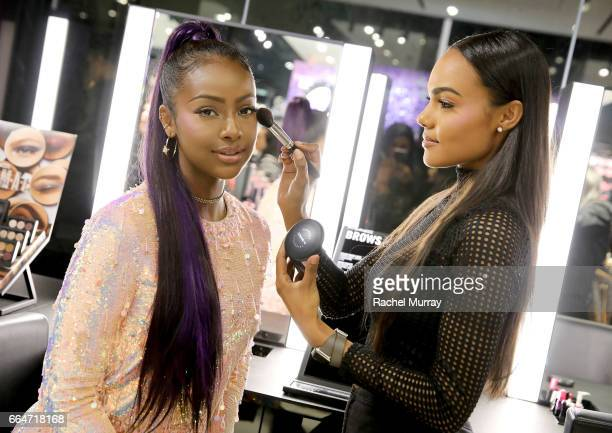 Cosmetics Future Forward appearance with Singer Justine Skye at MAC Pro Melrose on April 4 2017 in West Hollywood California