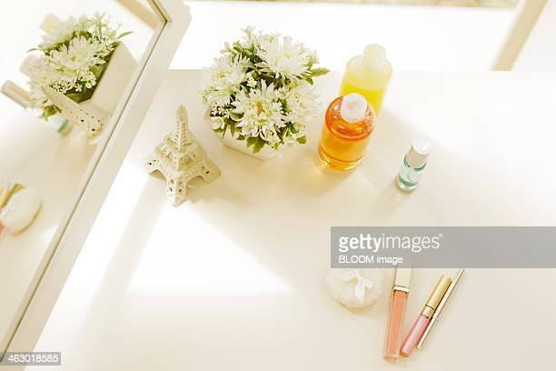Cosmetics On Table
