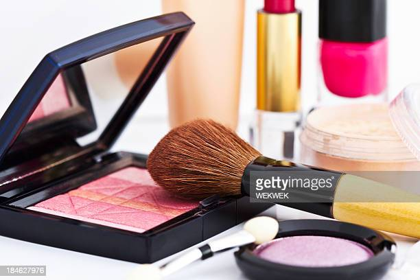 cosmetics on white background - small group of objects stock pictures, royalty-free photos & images
