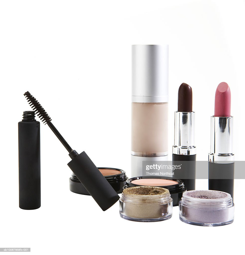 Cosmetics on white background : Stock Photo
