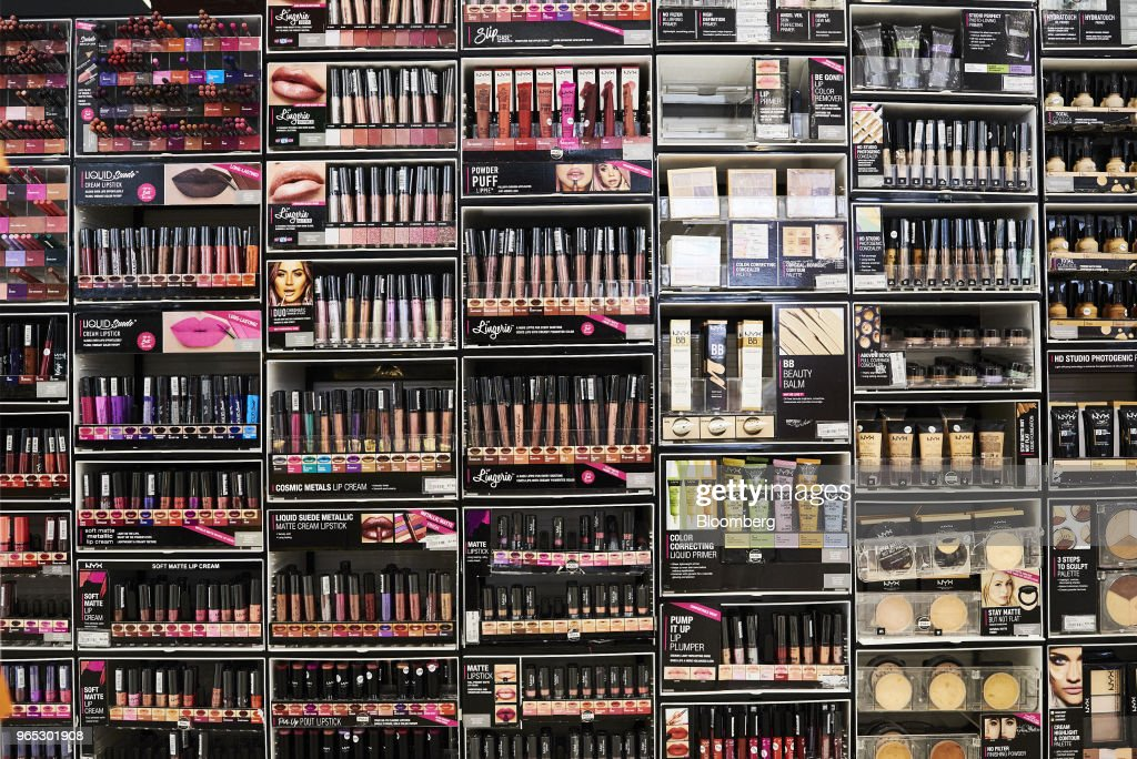 NYX Cosmetics USA Inc  makeup products are displayed for sale at an