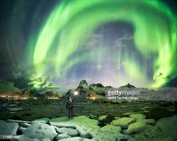 cosmic arch - norway stock pictures, royalty-free photos & images