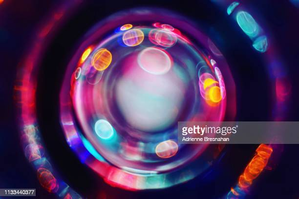 cosmic color circles and dots - image focus technique stock pictures, royalty-free photos & images
