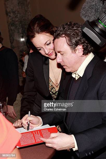 "Cosmic Consultants Stella Starsky and Quinn Cox sign books at the ""Cosmic Coupling: The Sextrology of Relationships"" book release party at the W New..."