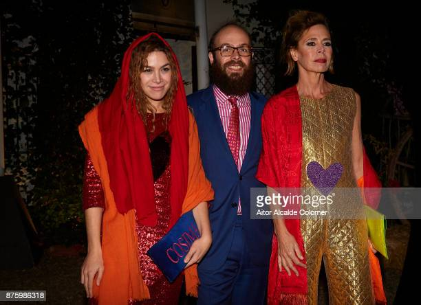 Cosmina Ramirez Tristan Ramirez and spanish designer Agatha Ruiz de la Prada attends the SICAB Closing Gala 2017 on November 18 2017 in Seville Spain