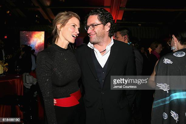 Cosmina Shaw and Everardo Gout attend the National Geographic Channel MARS Premiere NYC after party on October 26 2016 in New York City