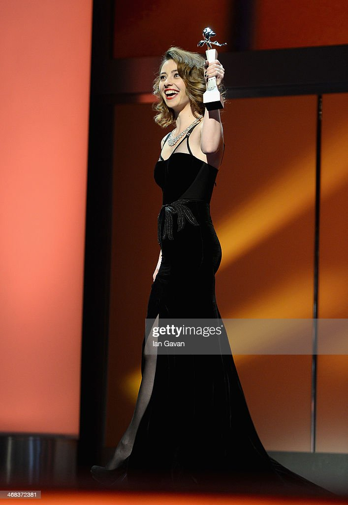 Cosmina Stratan on stage at the Shooting Stars stage presentation during the 64th Berlinale International Film Festival at the Berlinale Palast on February 10, 2014 in Berlin, Germany.