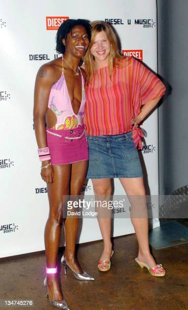 DJ Cosmo and DJ Paulette during Diesel U Music Awards 2004 Arrivals at Fabric Nightclub in London Great Britain