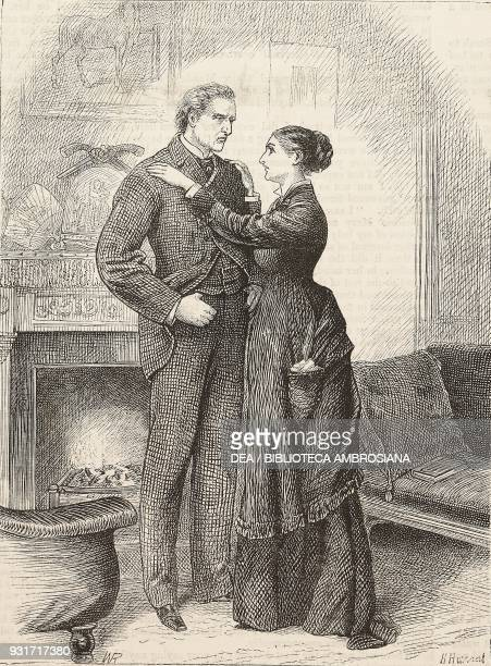 Cosmo and Sarah, from the novel Black Spirits and White, chapter L, by Frances Eleanor Trollope, United Kingdom, illustration from the magazine The...