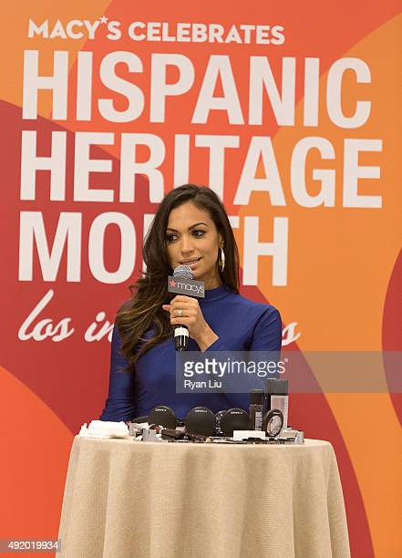 Cosmo for Latinas Beauty Editor Milly Almodovar speaks onstage at Macy's Herald Square Celebrates Hispanic Heritage Month at Macy's Herald Square on...