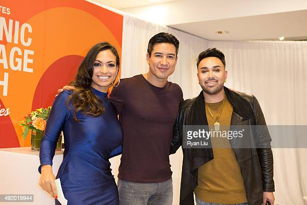 Cosmo for Latinas Beauty Editor Milly Almodovar TV personality Mario Lopez and celebrity stylist Angel Merino attend Macy's Herald Square Celebrates...