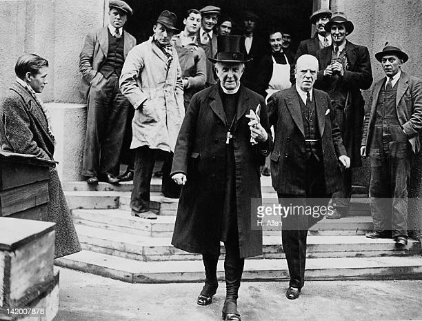 Cosmo Gordon Lang the Archbishop of Canterbury leaves Westminster Abbey in London after a rehearsal for the coronation of King George VI 22nd April...
