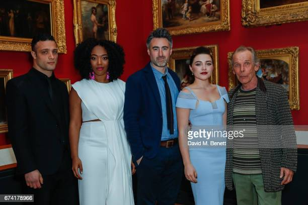 Cosmo Jarvis Naomi Ackie William Oldroyd Florence Pugh and Christopher Fairbank attend a special screening of 'Lady Macbeth' at The VA on April 27...