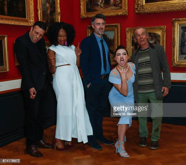 "Cosmo Jarvis, Naomi Ackie, William Oldroyd, Florence Pugh and Christopher Fairbank attend a special screening of ""Lady Macbeth"" at The V&A on April..."