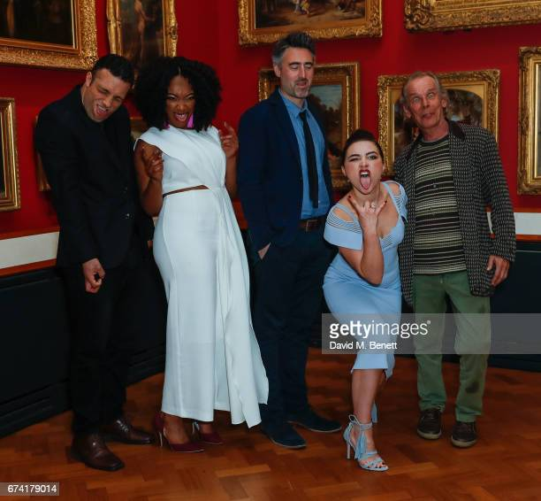 Cosmo Jarvis Naomi Ackie William Oldroyd Florence Pugh and Christopher Fairbank attend a special screening of Lady Macbeth at The VA on April 27 2017...