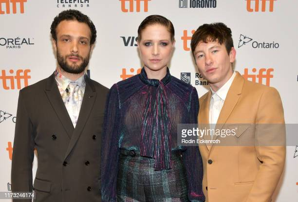 Cosmo Jarvis Niamh Algar and Barry Keoghan attend the Calm With Horses photo call during the 2019 Toronto International Film Festival at TIFF Bell...