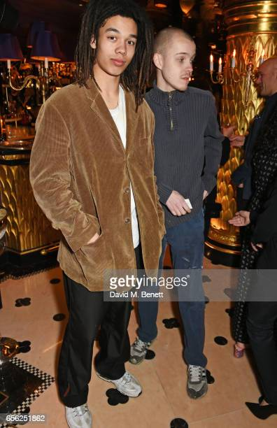 Cosmo Pyke and Jack Pfister attend the Another Man Spring/Summer Issue launch dinner in association with Kronaby at Park Chinois on March 21 2017 in...