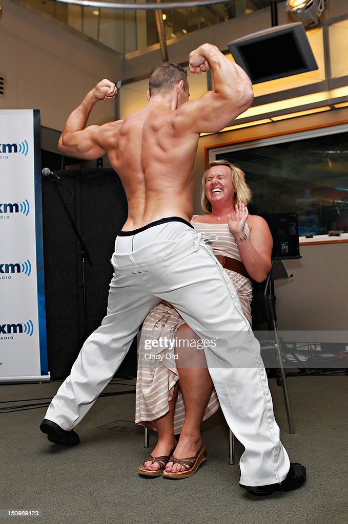 Cosmo Radio's 'Wake Up with Taylor' hosts a 'Magic Mike' style male revue for an audience of fans at the SiriusXM Studio on August 29, 2012 in New York City.