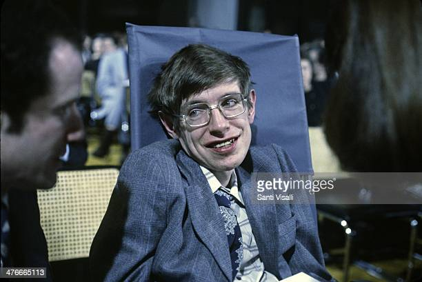 Cosmologist Stephen Hawking on October 10 1979 in Princeton New Jersey