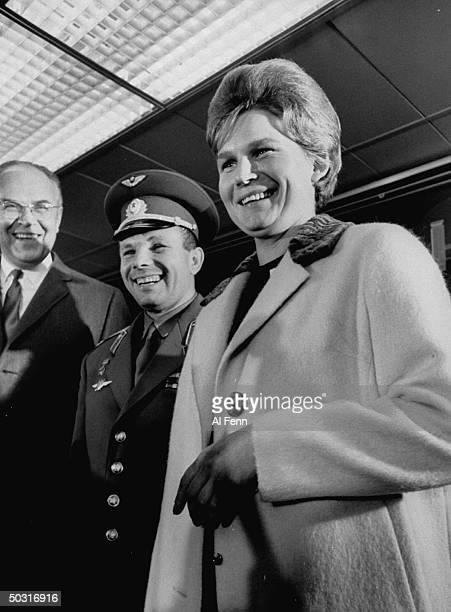 Cosmonauts Yuri Gagarin and Valentina Tereshkova in NYC
