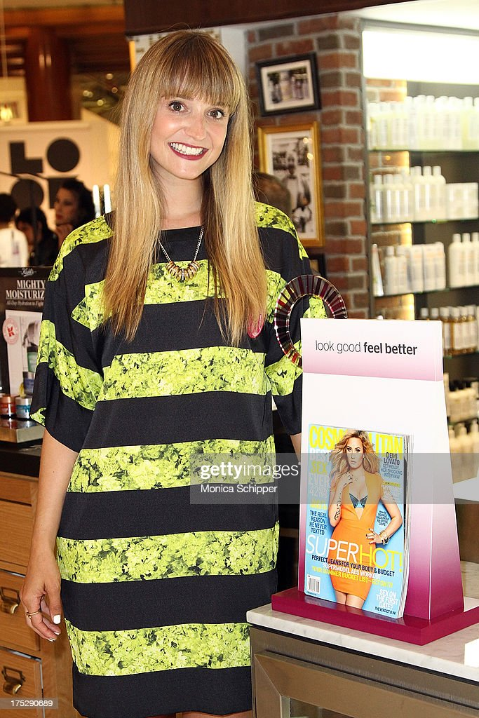 Cosmopolitan beauty director, Leah Wyar, attends Second Annual Beauty Editors Day At Saks Fifth Avenue on August 1, 2013 in New York City.