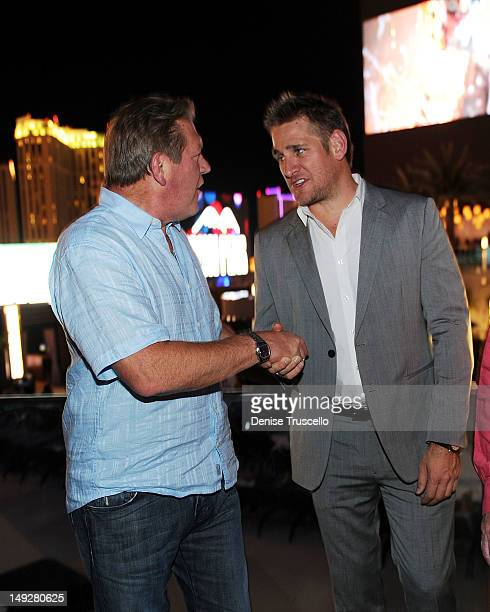 Cosmopolitan CEO John Unwin and Curtis Stone attend the 'Top Chef Masters' Season 4 Premiere Party at the Cosmopolitan Hotel in CityCenter on July 25...
