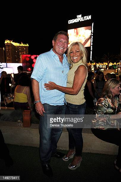 Cosmopolitan CEO John Unwin and Leslie Unwin attend the Top Chef Masters' Season 4 Premiere Party at Cosmopolitan Hotel in CityCenter on July 25 2012...