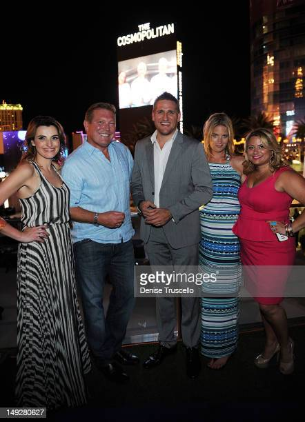 Cosmopolitan CEO John Unwin Curtis Stone and Amy Rosetti attend the 'Top Chef Masters' Season 4 Premiere Party at the Cosmopolitan Hotel in...
